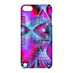 Crystal Northern Lights Palace, Abstract Ice  Apple iPod Touch 5 Hardshell Case with Stand