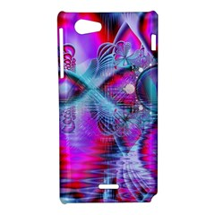 Crystal Northern Lights Palace, Abstract Ice  Sony Xperia J Hardshell Case
