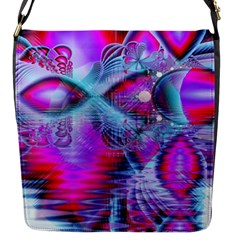 Crystal Northern Lights Palace, Abstract Ice  Flap Closure Messenger Bag (Small)