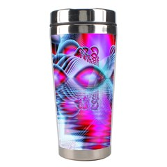 Crystal Northern Lights Palace, Abstract Ice  Stainless Steel Travel Tumbler