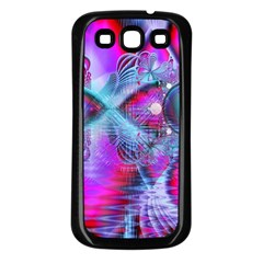 Crystal Northern Lights Palace, Abstract Ice  Samsung Galaxy S3 Back Case (Black)