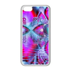 Crystal Northern Lights Palace, Abstract Ice  Apple iPhone 5C Seamless Case (White)