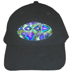 Abstract Peacock Celebration, Golden Violet Teal Black Baseball Cap
