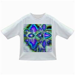 Abstract Peacock Celebration, Golden Violet Teal Baby T-shirt