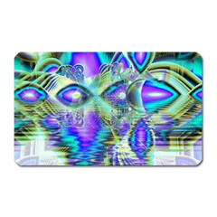 Abstract Peacock Celebration, Golden Violet Teal Magnet (Rectangular)