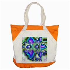 Abstract Peacock Celebration, Golden Violet Teal Accent Tote Bag