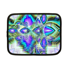 Abstract Peacock Celebration, Golden Violet Teal Netbook Sleeve (small)