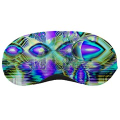 Abstract Peacock Celebration, Golden Violet Teal Sleeping Mask