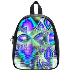 Abstract Peacock Celebration, Golden Violet Teal School Bag (Small)