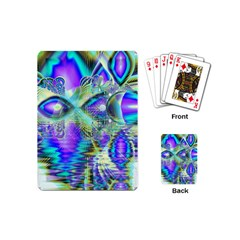 Abstract Peacock Celebration, Golden Violet Teal Playing Cards (Mini)
