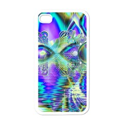 Abstract Peacock Celebration, Golden Violet Teal Apple Iphone 4 Case (white)
