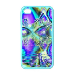 Abstract Peacock Celebration, Golden Violet Teal Apple Iphone 4 Case (color)