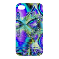 Abstract Peacock Celebration, Golden Violet Teal Apple iPhone 4/4S Hardshell Case