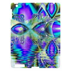 Abstract Peacock Celebration, Golden Violet Teal Apple iPad 3/4 Hardshell Case