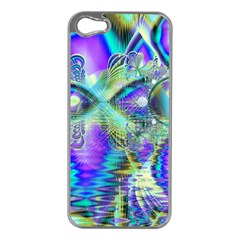 Abstract Peacock Celebration, Golden Violet Teal Apple iPhone 5 Case (Silver)