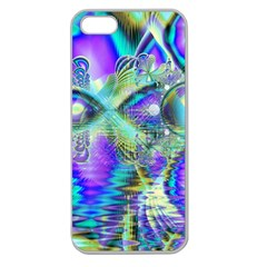 Abstract Peacock Celebration, Golden Violet Teal Apple Seamless Iphone 5 Case (clear)