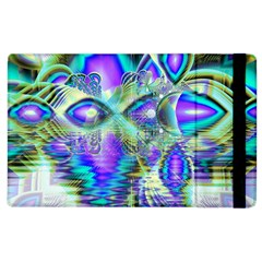 Abstract Peacock Celebration, Golden Violet Teal Apple iPad 3/4 Flip Case