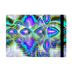 Abstract Peacock Celebration, Golden Violet Teal Apple iPad Mini Flip Case