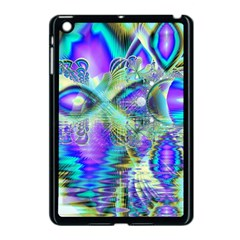 Abstract Peacock Celebration, Golden Violet Teal Apple iPad Mini Case (Black)
