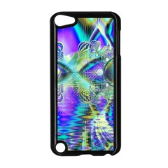 Abstract Peacock Celebration, Golden Violet Teal Apple iPod Touch 5 Case (Black)