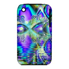 Abstract Peacock Celebration, Golden Violet Teal Apple iPhone 3G/3GS Hardshell Case (PC+Silicone)