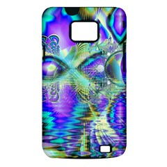 Abstract Peacock Celebration, Golden Violet Teal Samsung Galaxy S II i9100 Hardshell Case (PC+Silicone)