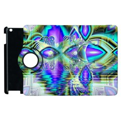 Abstract Peacock Celebration, Golden Violet Teal Apple iPad 2 Flip 360 Case