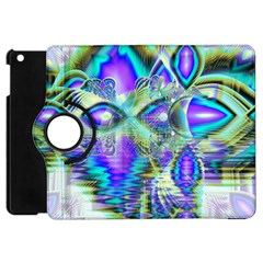 Abstract Peacock Celebration, Golden Violet Teal Apple iPad Mini Flip 360 Case