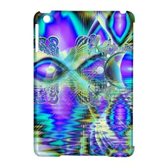 Abstract Peacock Celebration, Golden Violet Teal Apple iPad Mini Hardshell Case (Compatible with Smart Cover)