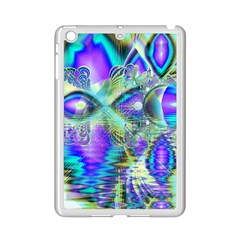 Abstract Peacock Celebration, Golden Violet Teal Apple iPad Mini 2 Case (White)