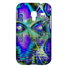 Abstract Peacock Celebration, Golden Violet Teal Samsung Galaxy Ace Plus S7500 Hardshell Case