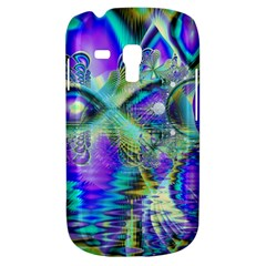Abstract Peacock Celebration, Golden Violet Teal Samsung Galaxy S3 MINI I8190 Hardshell Case