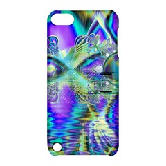 Abstract Peacock Celebration, Golden Violet Teal Apple iPod Touch 5 Hardshell Case with Stand