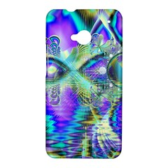 Abstract Peacock Celebration, Golden Violet Teal HTC One Hardshell Case