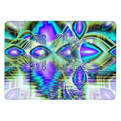 Abstract Peacock Celebration, Golden Violet Teal Samsung Galaxy Tab 10.1  P7500 Flip Case