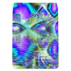 Abstract Peacock Celebration, Golden Violet Teal Removable Flap Cover (Small)