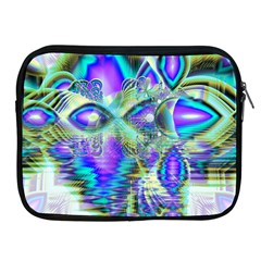 Abstract Peacock Celebration, Golden Violet Teal Apple Ipad Zippered Sleeve