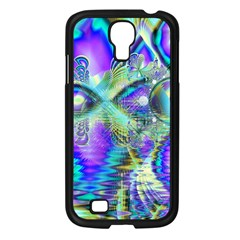Abstract Peacock Celebration, Golden Violet Teal Samsung Galaxy S4 I9500/ I9505 Case (black)