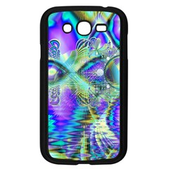 Abstract Peacock Celebration, Golden Violet Teal Samsung Galaxy Grand Duos I9082 Case (black)