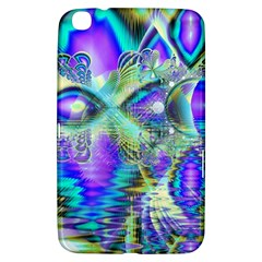 Abstract Peacock Celebration, Golden Violet Teal Samsung Galaxy Tab 3 (8 ) T3100 Hardshell Case