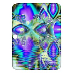 Abstract Peacock Celebration, Golden Violet Teal Samsung Galaxy Tab 3 (10.1 ) P5200 Hardshell Case