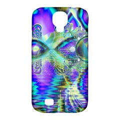 Abstract Peacock Celebration, Golden Violet Teal Samsung Galaxy S4 Classic Hardshell Case (PC+Silicone)