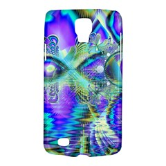 Abstract Peacock Celebration, Golden Violet Teal Samsung Galaxy S4 Active (I9295) Hardshell Case