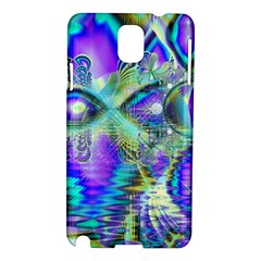Abstract Peacock Celebration, Golden Violet Teal Samsung Galaxy Note 3 N9005 Hardshell Case