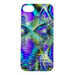 Abstract Peacock Celebration, Golden Violet Teal Apple iPhone 5S Hardshell Case