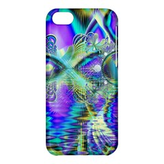 Abstract Peacock Celebration, Golden Violet Teal Apple Iphone 5c Hardshell Case