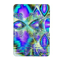 Abstract Peacock Celebration, Golden Violet Teal Samsung Galaxy Tab 2 (10.1 ) P5100 Hardshell Case