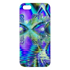 Abstract Peacock Celebration, Golden Violet Teal iPhone 5S Premium Hardshell Case