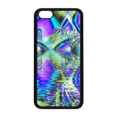 Abstract Peacock Celebration, Golden Violet Teal Apple Iphone 5c Seamless Case (black)