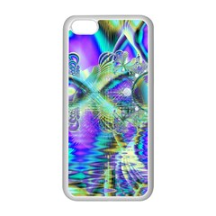 Abstract Peacock Celebration, Golden Violet Teal Apple Iphone 5c Seamless Case (white)